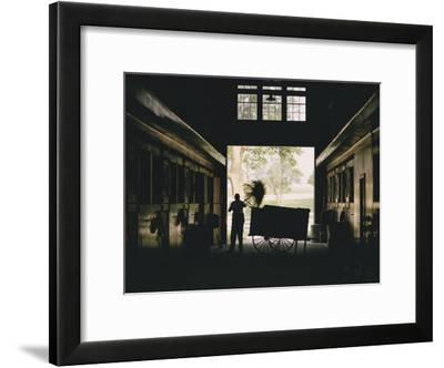 Cleaning Horse Stalls in Kentucky-Dick Durrance-Framed Photographic Print