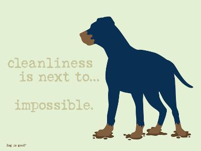 Cleanliness-Dog is Good-Art Print