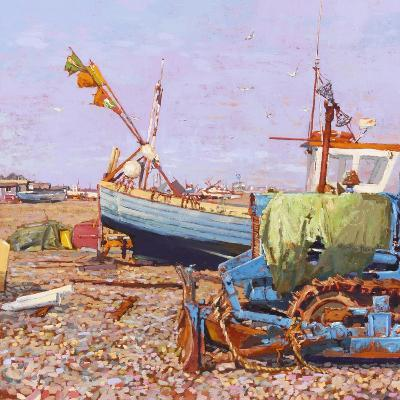 Clear Blue Day (Aldeburgh Beach) 2006-Martin Decent-Giclee Print