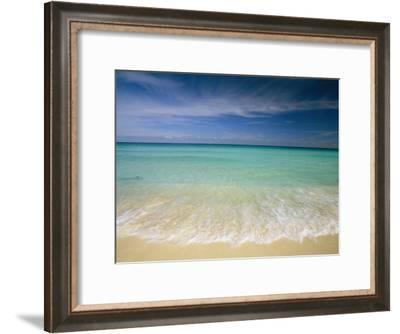 Clear Blue Water and Wispy Clouds Along the Beach at Cancun-Michael Melford-Framed Photographic Print