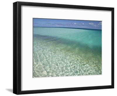 Clear Turquoise Water in the Seychelles Islands-Michael Melford-Framed Photographic Print
