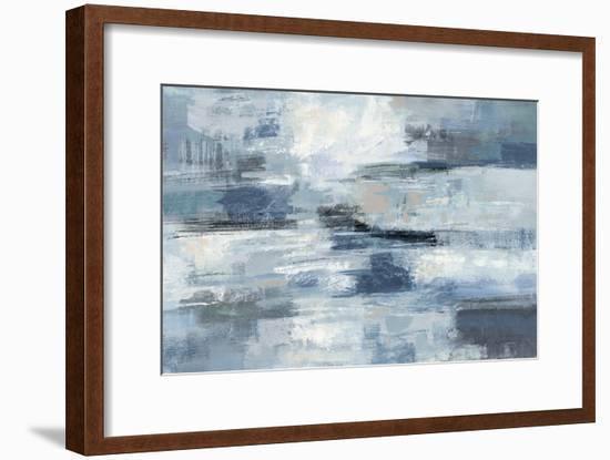Clear Water Indigo and Gray-Silvia Vassileva-Framed Art Print