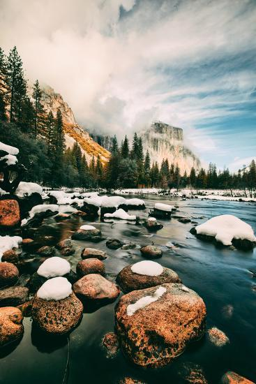 Clearing Storm at Valley View in January, Yosemite Valley, California-Vincent James-Photographic Print