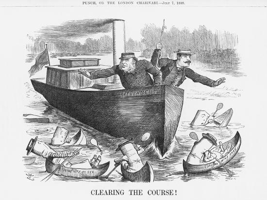 Clearing the Course!, July 7, 1888-Joseph Swain-Giclee Print