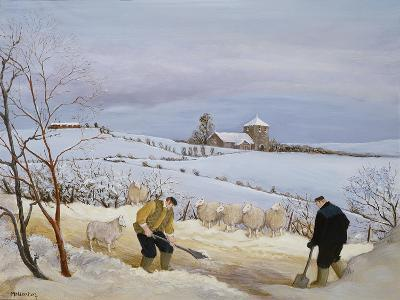Clearing the Snow-Margaret Loxton-Giclee Print