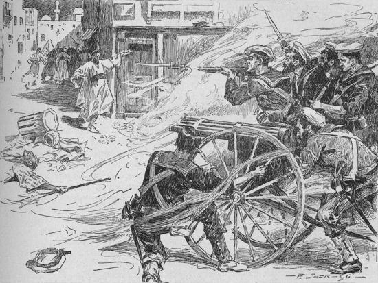 'Clearing the Streets of Alexandria', c1896, (1902)-Unknown-Giclee Print