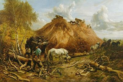 Clearing the Wood for the Iron Way, 1880-Thomas Sidney Cooper-Giclee Print