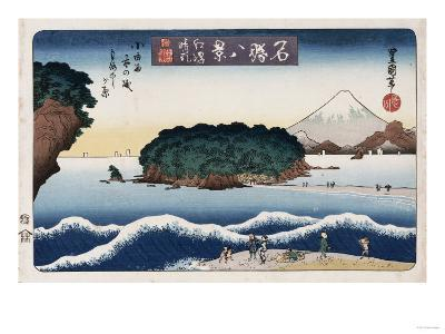 Clearing Weather, Enoshima, from the Series 'Eight Views of Famous Places'-Ando Hiroshige-Giclee Print