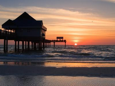 Clearwater Beach Sunset, Florida-George Oze-Photographic Print