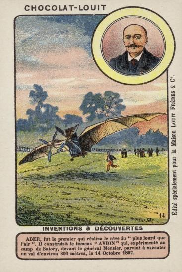 Clement Ader, French Engineer and Aviation Pioneer--Giclee Print