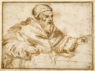 Clement VII Seated at a Table-Giorgio Vasari-Giclee Print