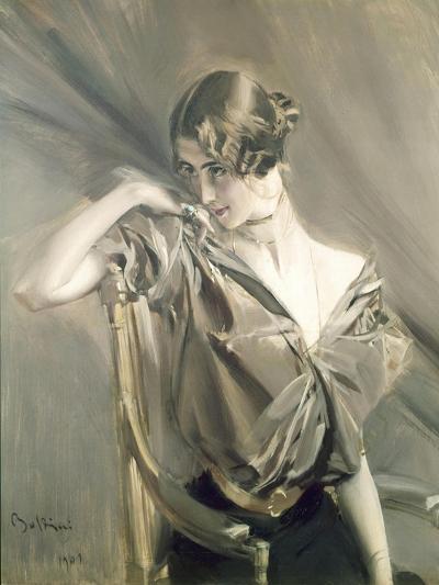 Cleo De Merode, Famous Dancer at the Opera in Paris-Giovanni Boldini-Art Print