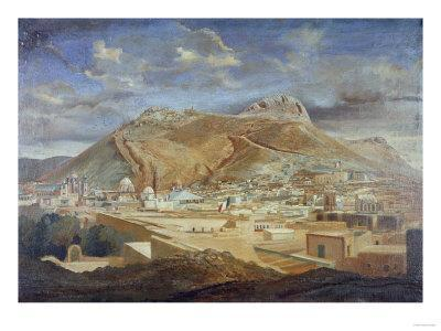 Vista De Zacatecas Con El Cerro Dela Bufa
