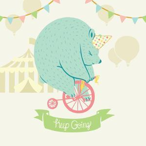 Little Circus Bear Pastel by Cleonique Hilsaca