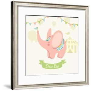 Little Circus Elephant Pastel by Cleonique Hilsaca
