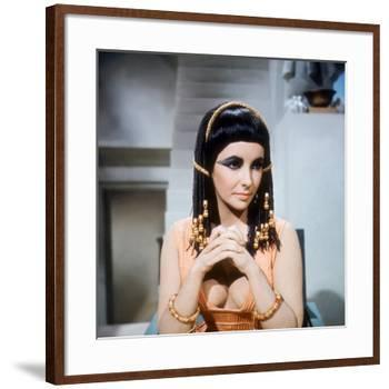 Cleopatra, Elizabeth Taylor, Directed by Joseph L. Mankiewicz, 1963-null-Framed Photo