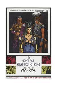 Cleopatra, Rex Harrison, Elizabeth Taylor, Richard Burton on Poster Art, 1963