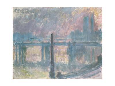 Cleopatra's Needle and Charing Cross Bridge, 1899-Claude Monet-Giclee Print