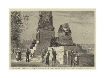 Cleopatra's Needle on the Thames Embankment--Giclee Print