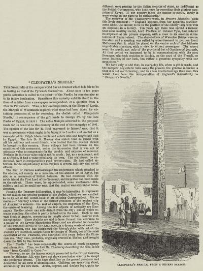 Cleopatra's Needle--Giclee Print