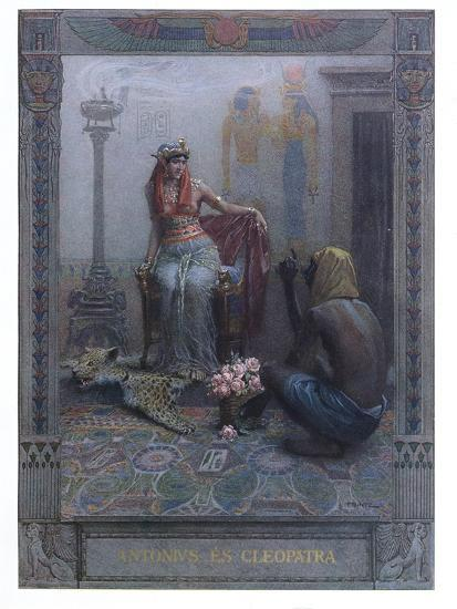 """Cleopatra, Scene from """"Anthony and Cleopatra"""" by By William Shakespeare-Christian August Printz-Giclee Print"""