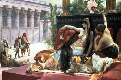 Cleopatra Testing Poisons on Those Condemned to Death, Late 19th Century-Lawrence Alma-Tadema-Giclee Print
