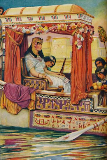 'Cleopatra - The Serpent of Old Nile in the Royal Galley', c1925-Arthur Percy Dixon-Giclee Print