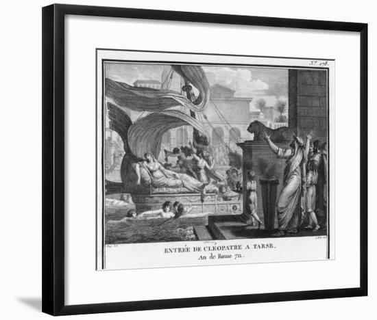 Cleopatra VII in Her Barge on the Nile-Augustyn Mirys-Framed Giclee Print