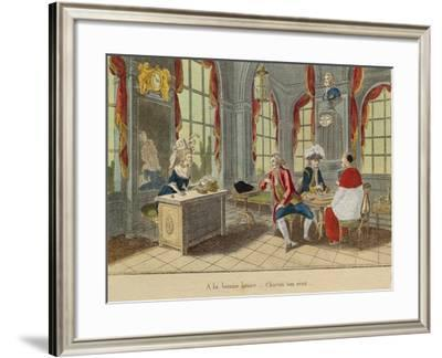 Clergy and Nobility, Third Estate, from Caricature of the Three Estates--Framed Giclee Print