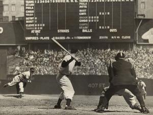 Cleveland Indians', Bob Feller, Pitching to New York Yankees' Joe Dimaggio