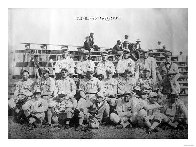 Cleveland Indians Team, Baseball Photo - Cleveland, OH-Lantern Press-Art Print