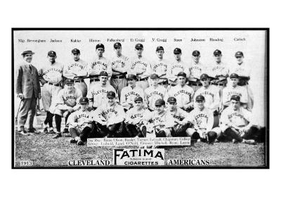Cleveland, OH, Cleveland Naps, Team Photograph, Baseball Card-Lantern Press-Art Print
