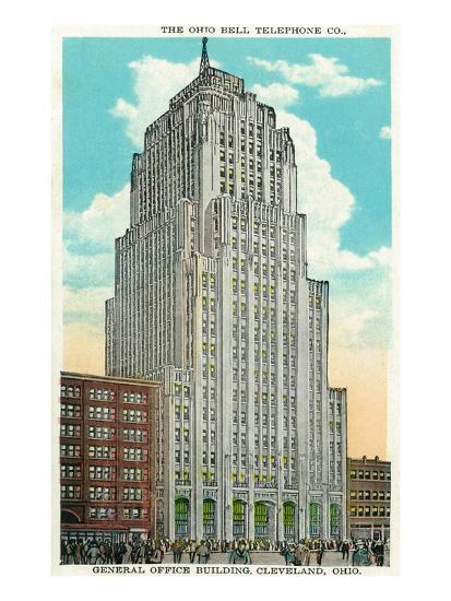 Cleveland, Ohio - Oh Bell Telephone Co Building Exterior-Lantern Press-Art Print