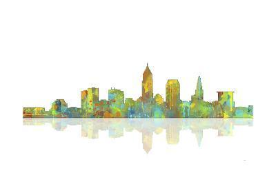 Cleveland Ohio Skyline 1-Marlene Watson-Giclee Print