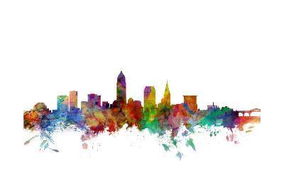 Cleveland Ohio Skyline-Michael Tompsett-Art Print