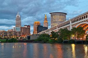 Cleveland with River & Bridge