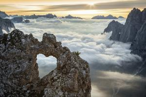 A Rock's Heart, on a Cloud's Sea, Between Rock Walls. (Dolomites, Italy) by ClickAlps