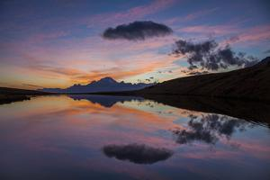Lake of Campagneda at Sunset, in the Background Disgrazia Mountain, Malenco Valley, Lombardy, Italy by ClickAlps