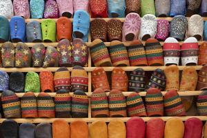 North Africa, Morocco, Fes District, Medina of Fes. Shoes Typical Moroccan by ClickAlps