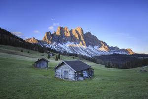 The Group of Odle Viewed from Gampen Alm at Dawn. Funes Valley. Dolomites South Tyrol Italy Europe by ClickAlps