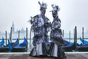 Venice Carnival masks in Riva degli Schiavoni. Venice, Veneto, Italy, Europe by ClickAlps