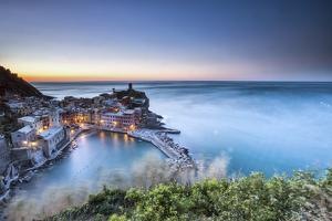 Vernazza and its Harbor in a Winter Night, Cinque Terre National Parc, Liguria by ClickAlps