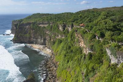 Cliff Along the Ocean, Bali Island, Indonesia-Keren Su-Photographic Print