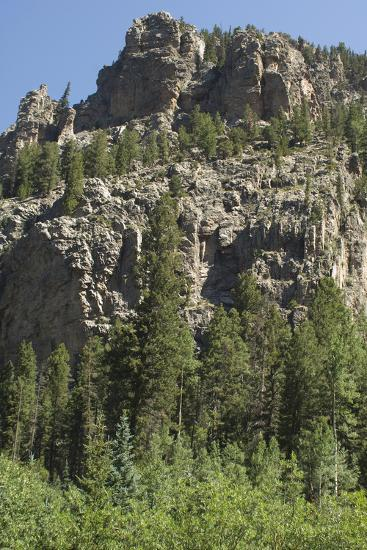 Cliff Along the Trampas Lakes Trail in the Pecos Wilderness, Sangre De Cristo Mountains--Photographic Print