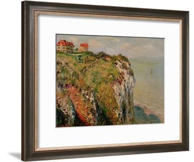 Cliff at Dieppe, 1882-Claude Monet-Framed Giclee Print