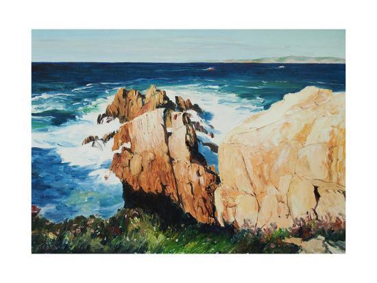 Cliff at La Coruna, Spain-Anthony Fandino-Giclee Print