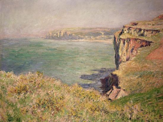 Cliff at Varengeville, 1882-Claude Monet-Giclee Print