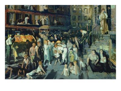 Cliff Dwellers-George Bellows-Art Print