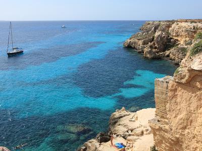 Cliff, Favignana, Sicily, Italy, Mediterranean, Europe-Vincenzo Lombardo-Photographic Print