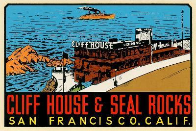 Cliff House Decal--Art Print